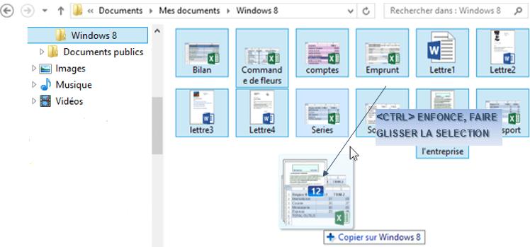 déplacer mes documents windows 8